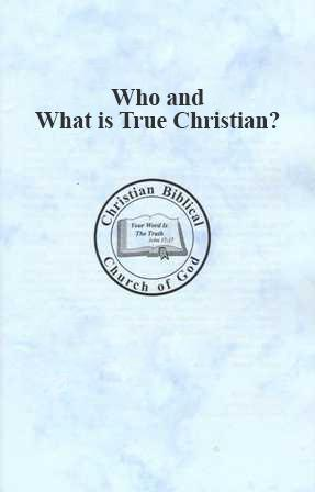 Free Booklets - Christian Biblical Church of God